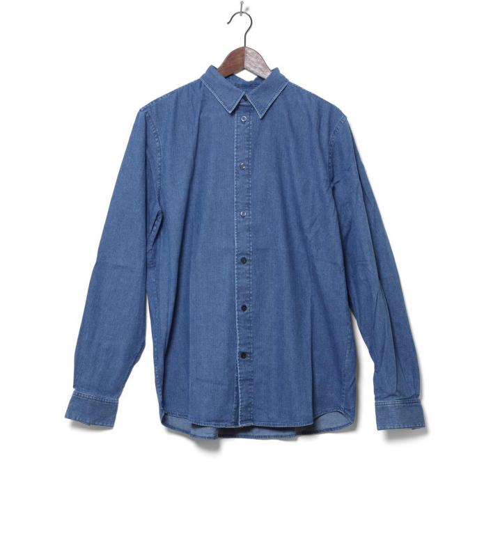 Wood Wood Shirt Flint blue heavy rinsed XL