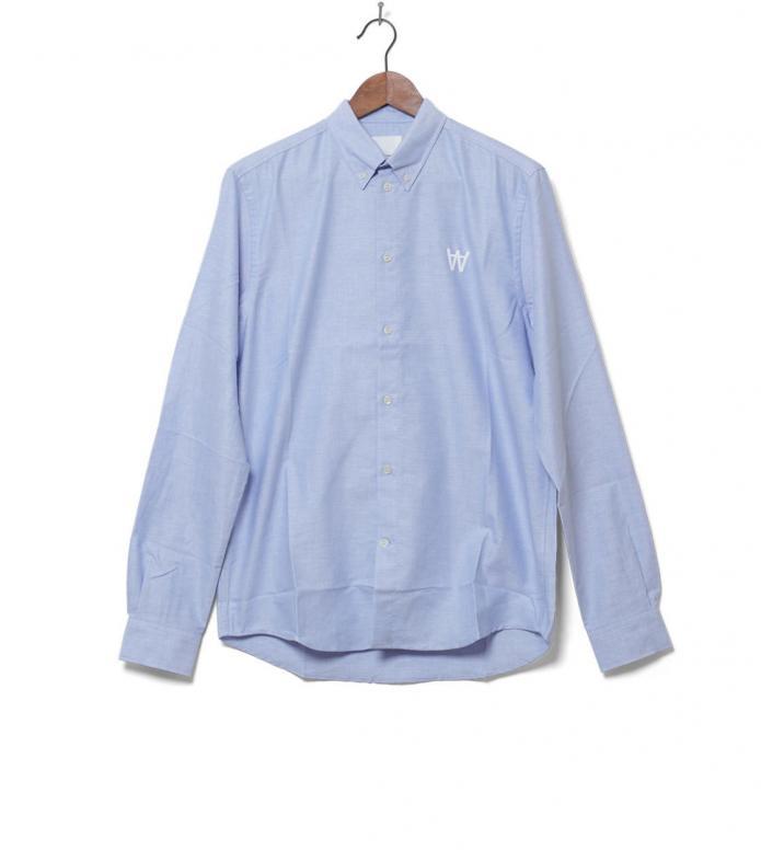 Wood Wood Shirt Timothy blue grey daw M
