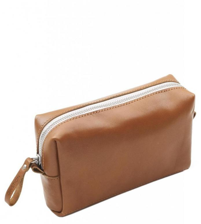 Qwstion Qwstion Amenity Pouch brown leather canvas