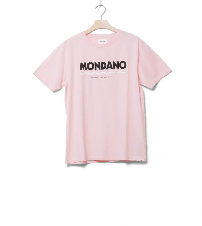 Wood Wood T-Shirt Mondano pink light M