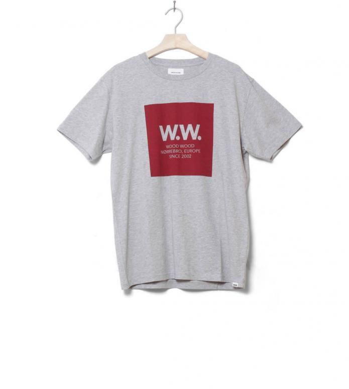 Wood Wood T-Shirt Square grey melange L