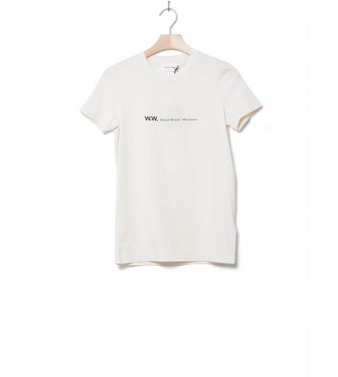 Wood Wood W T-Shirt Eden beige off-white S