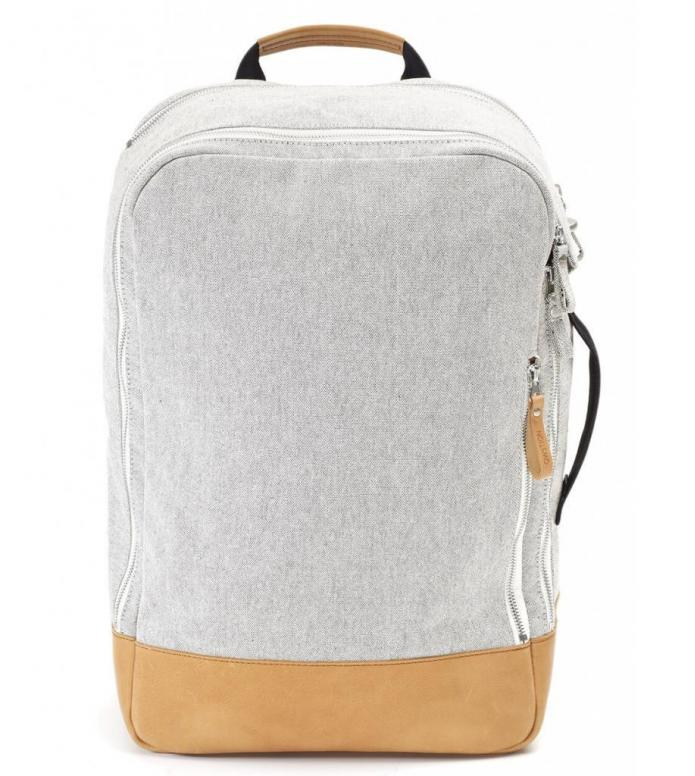 Qwstion Backpack raw blend natural leather 23L