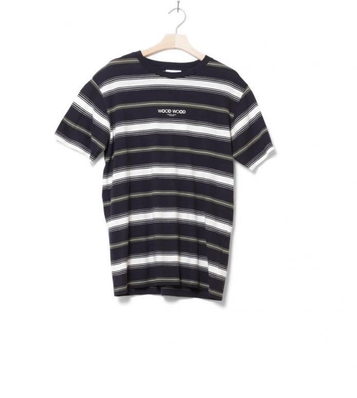 Wood Wood Wood Wood T-Shirt Perry blue navy stripes