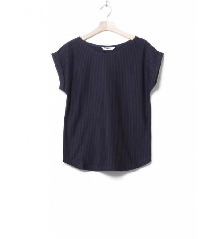 Wemoto W T-Shirt Bell stripe blue navy-black XS