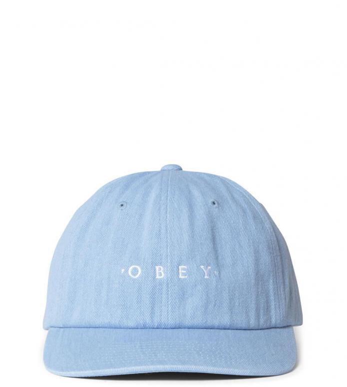 Obey Obey 6 Panel Intention Snapback blue light denim