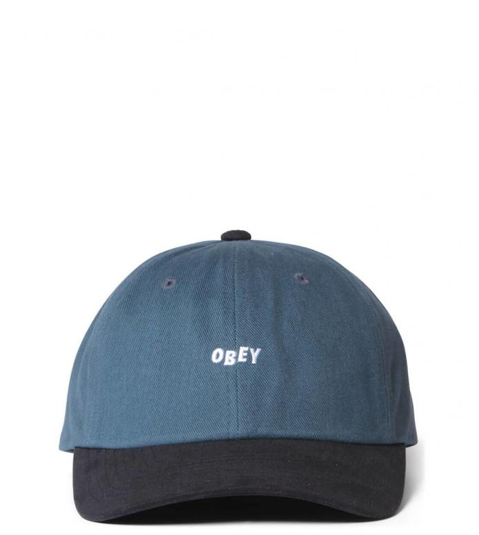 Obey Obey 6 Panel 90s Jumble Bar SB blue dark teal/black