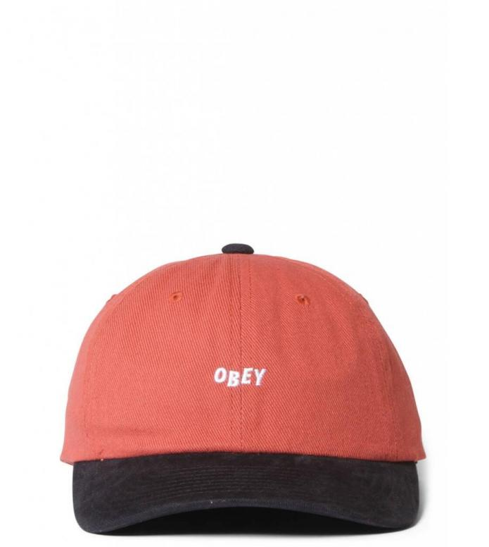Obey Obey 6 Panel 90s Jumble Bar SB red picante/black