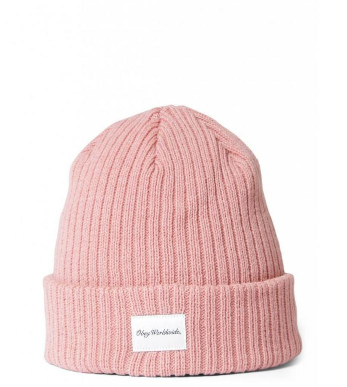 Obey Beanie Churchill pink dusty rose one size