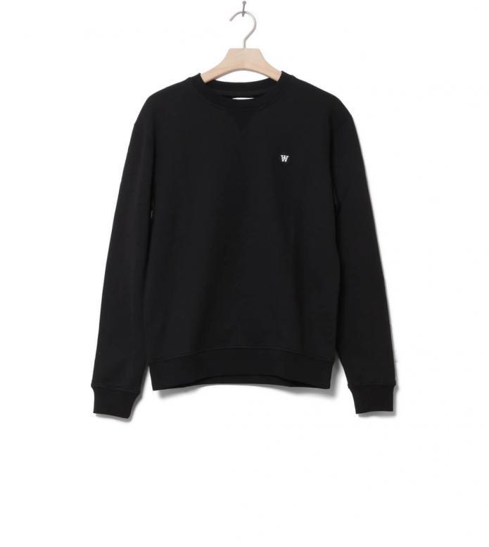 Wood Wood Wood Wood Sweater Tye black