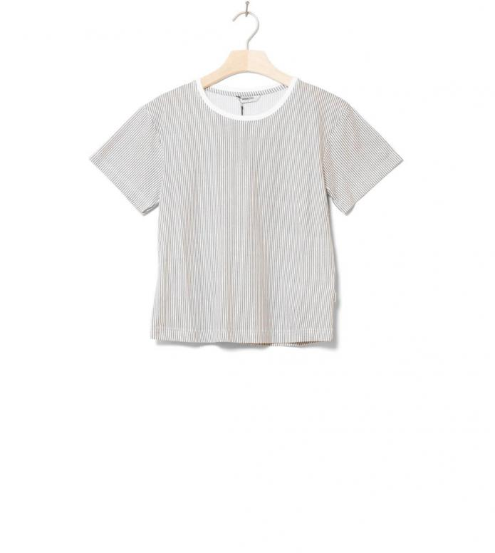 Wemoto W T-Shirt Teddy Printed white off-grey L