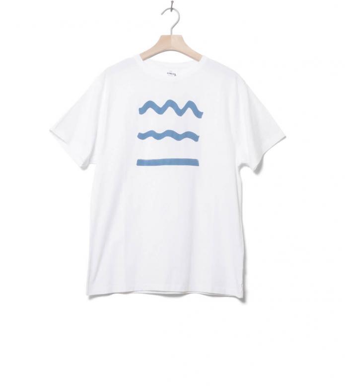 Klitmoller T-Shirt Rising Waves white M