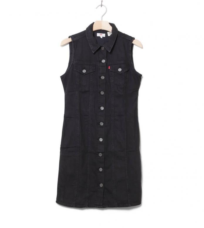 Levis W Dress SL Short Aubrey black shiny happy people x S