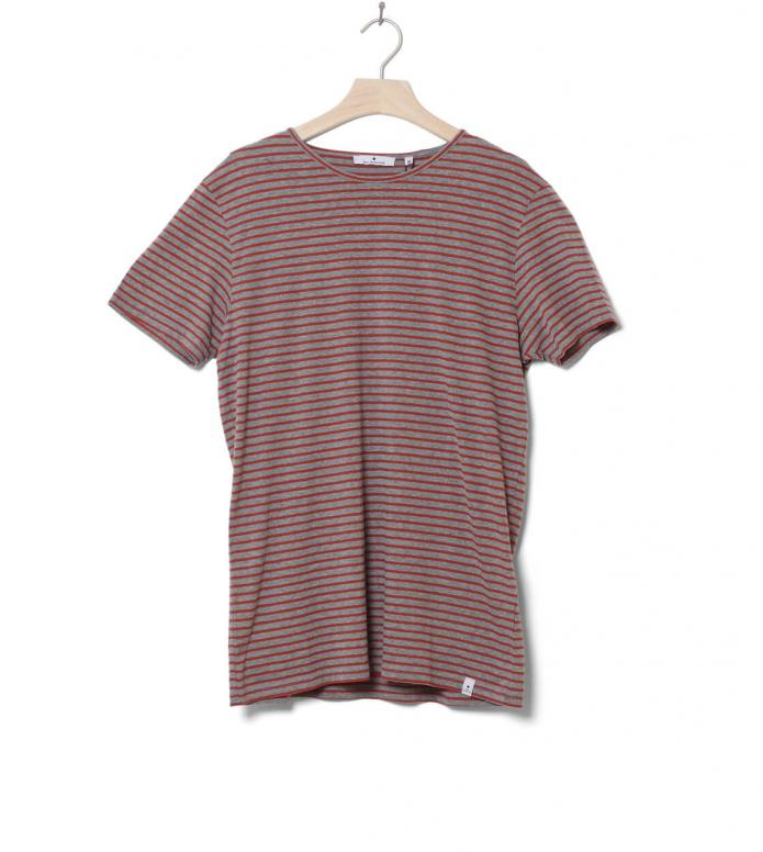 Revolution T-Shirt 1005 red grey-melange XL
