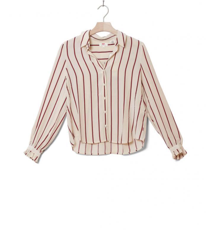 Levis W Shirt Marcey beige split rock stripe sandshell XS