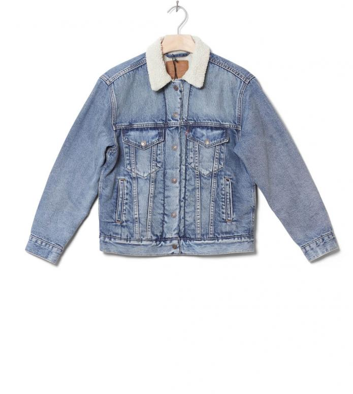 Levis W Sherpa Jacket Trucker blue addicted to love XS