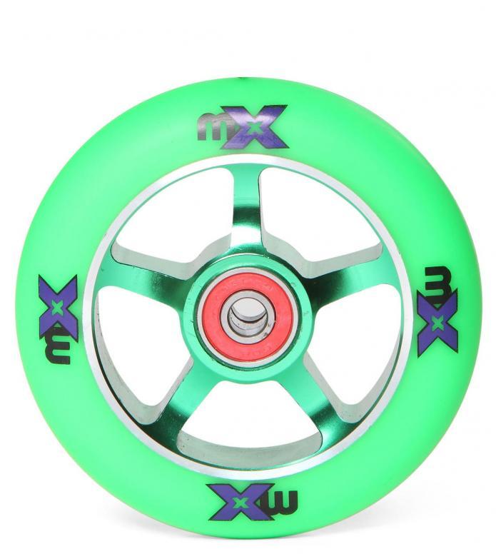 Micro Wheel MX green/green 100mm