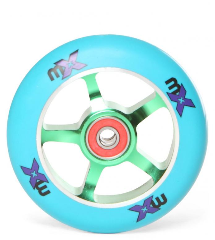 Micro Wheel MX green/blau 100mm