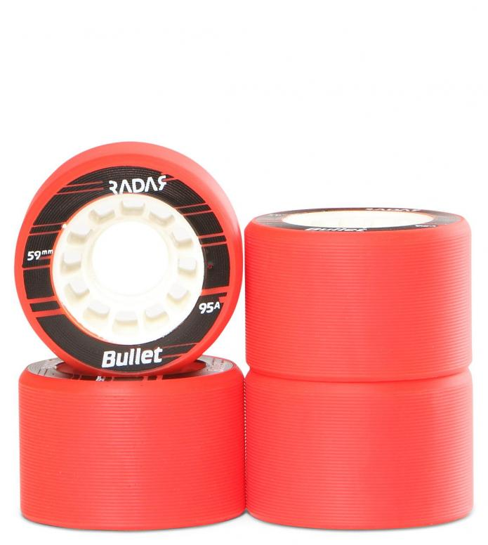 Radar Wheels Bullet red neon 59mm/95A