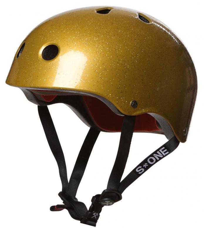 S1 S1 Helmet Lifer gold glitter
