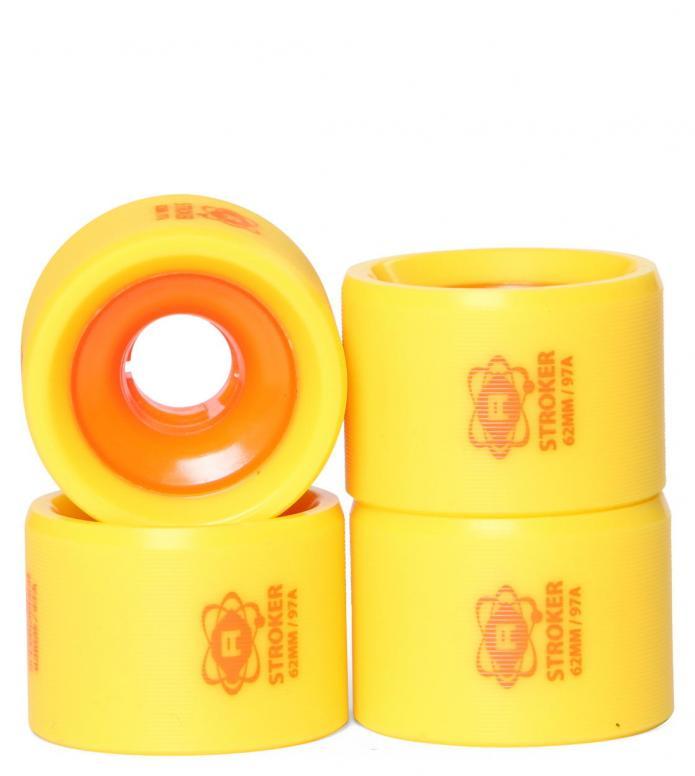 Atom Wheels Strocker yellow/orange 62mm/97A