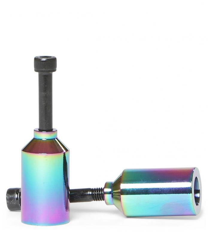 Blunt Pegs Pair Alu Rainbow