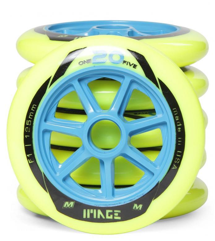 Matter Wheels F1 Imagine 125er blue/yellow 125mm/86A