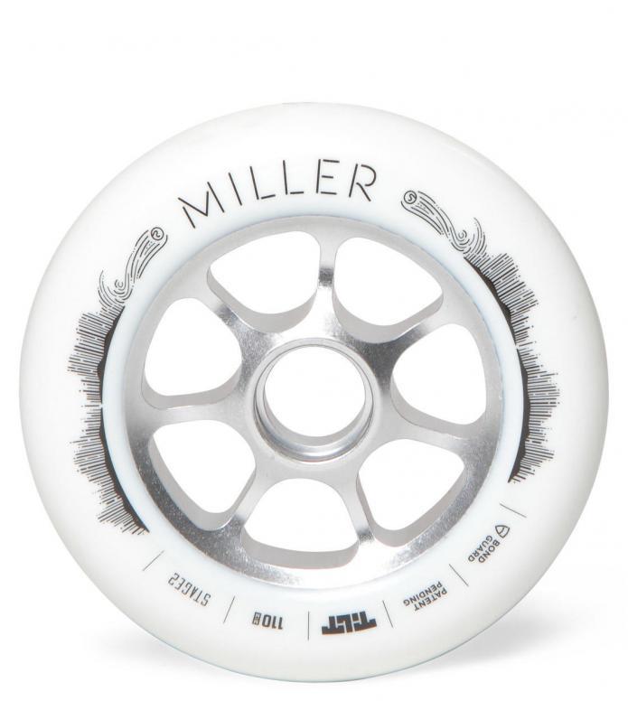 Tilt Wheel Miller white 110mm
