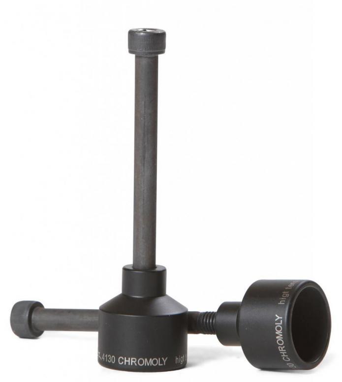 AO Pegs Chromoly Kit black 33mm