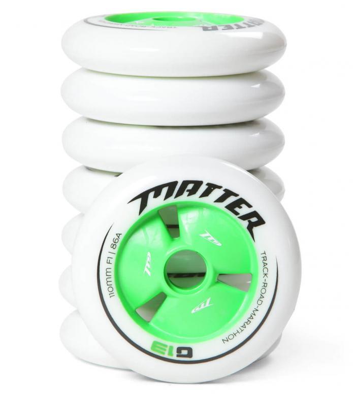 Matter Wheels F1 G13 110er white/green 110mm/86A