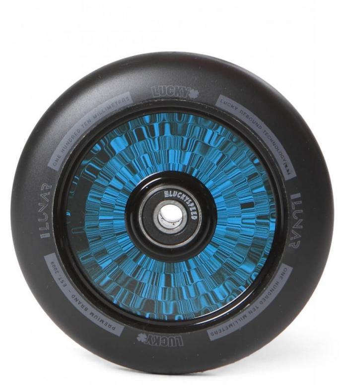Lucky Wheel Lunar Hollow Core 110er black/blue 110mm