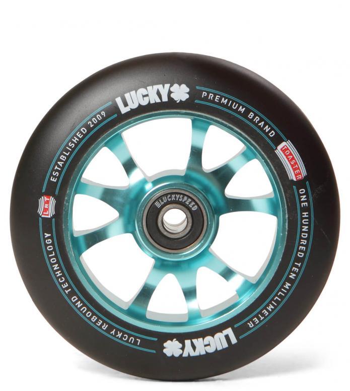 Lucky Wheel Toaster 110er blue teal/black 110mm