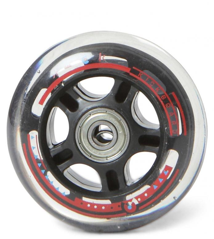 Micro Wheel clear 80er black clear 80mm