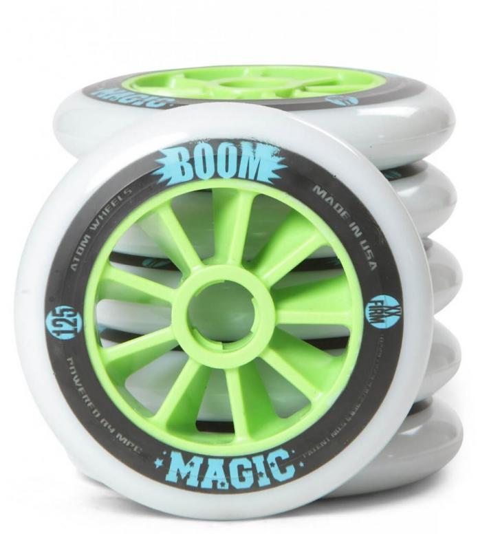 Atom Wheels BOOM Magic X Firm 125er white/green 125mm/86A