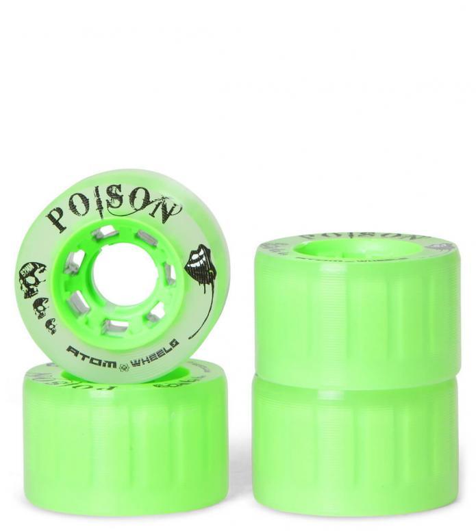 Atom Wheels Poison Slim 62er green core 62mm x 38mm/84A