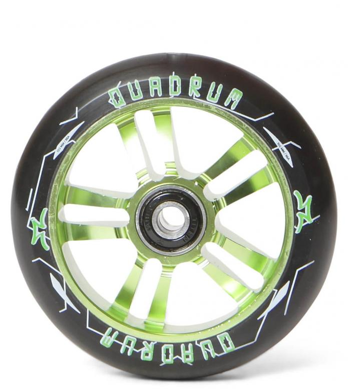 AO Wheel Quadrum 10-Star 100er green 100mm
