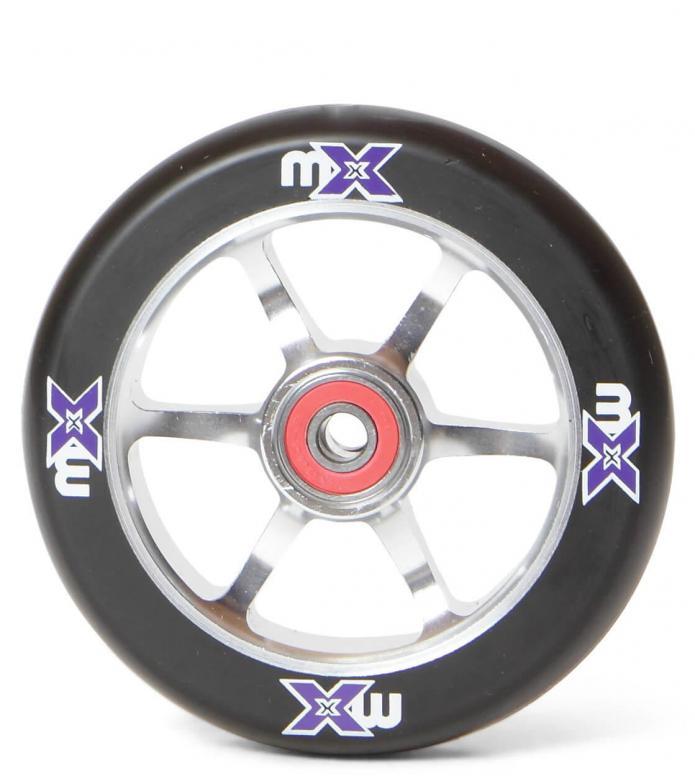 Micro Wheel MX 110er silver/black 110mm