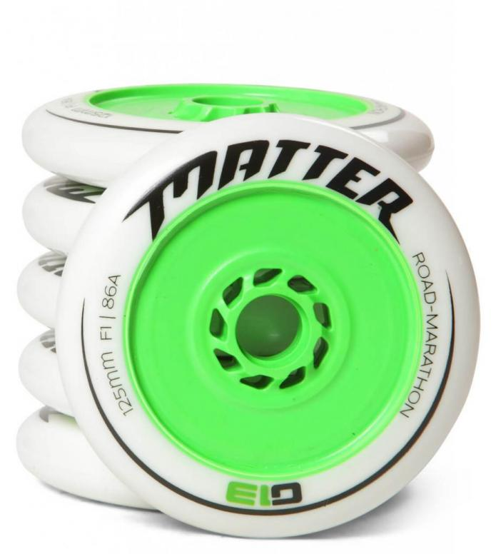 Matter Wheels F1 G13 125er green/white 125mm/88A