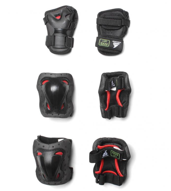 Rollerblade Kids Protection Skate Gear 3 Pack black/red XXXS
