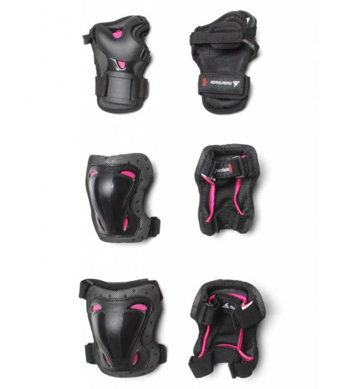 Rollerblade W Protection Skate Gear 3 Pack black/pink S