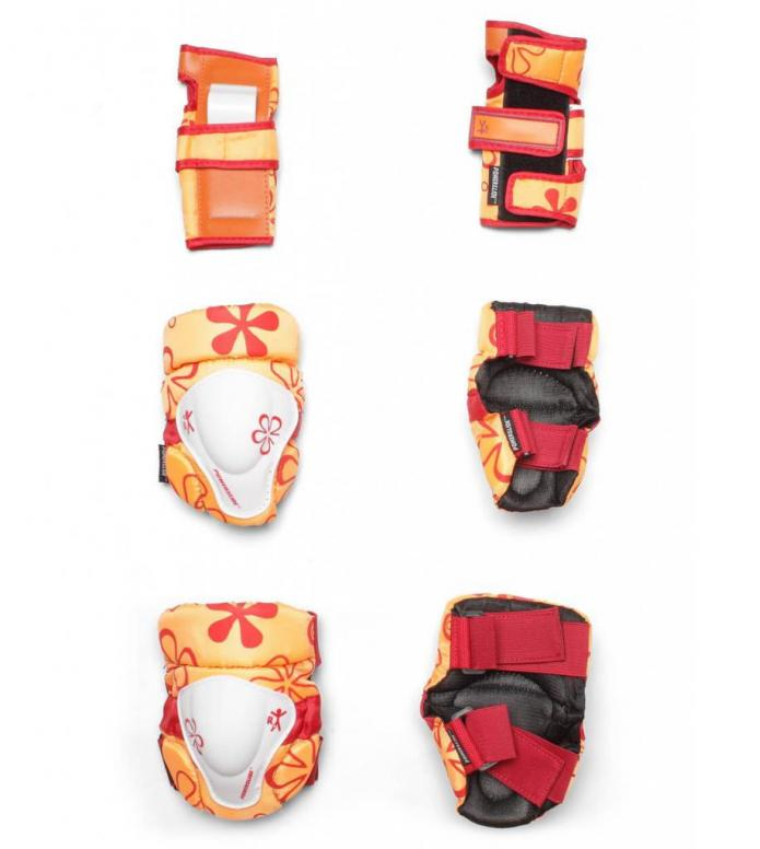 Powerslide Protection Kids Tri-Pack orange/red XXS