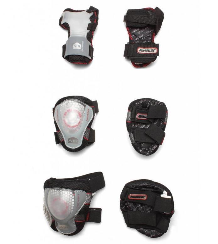 Powerslide Protection Pro Air Tri-Pack black/transparent M