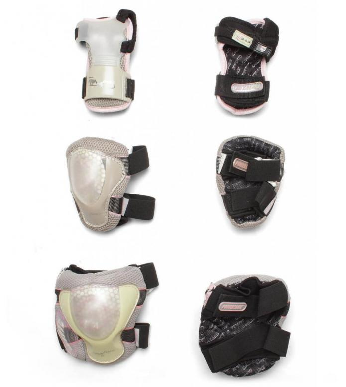 Powerslide W Protection Pro Air Tri-Pack greay/pink/transparent S