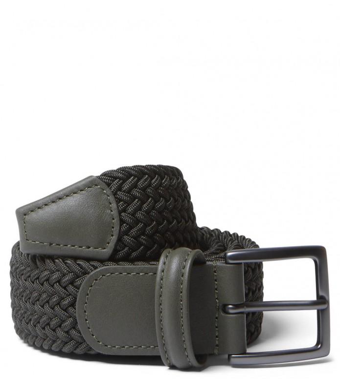 Andersons Andersons Belt Slim Woven green