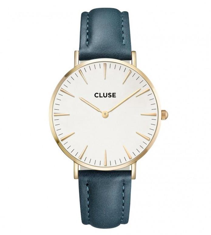 Cluse Cluse Watch La Boheme blue petrol/white gold
