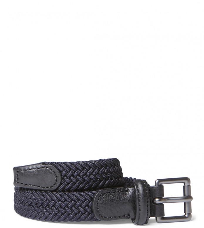 Andersons Andersons Belt Slim Woven blue