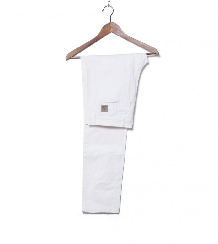 Carhartt WIP Pants Sid Trabuca white rinsed 32/32
