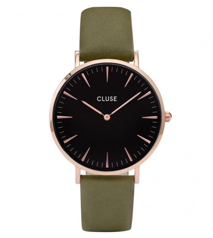 Cluse Cluse Watch La Boheme green olive/black rose gold