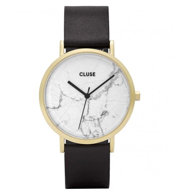 Cluse Cluse Watch La Roche black/white marble gold