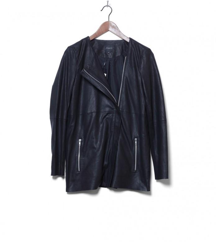 Selected Femme Leatherjacket Sfgry black M